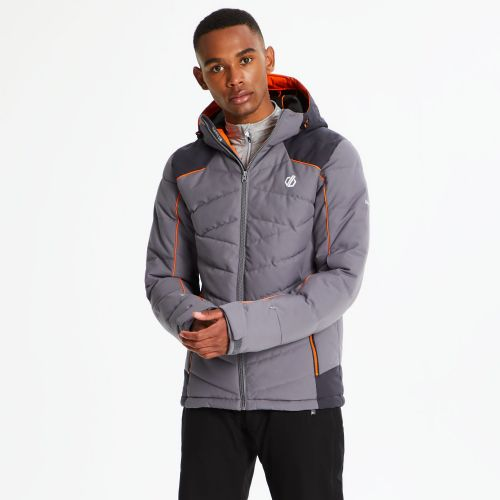 Men's Maxim Quilted Ski Jacket Aluminium Grey Ebony
